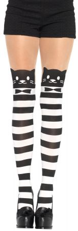 Opaque Fancy Cat Striped Pantyhose