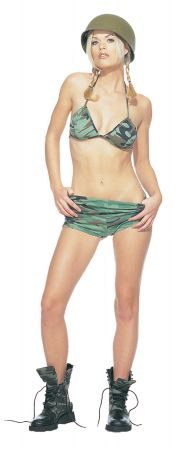 Camouflage Bikini Top with Shorts