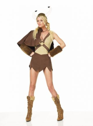 Women's Sexy Viking Dress Set