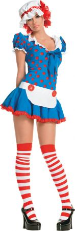 Women's Sexy Rag Doll Costume