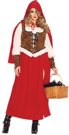 Women's Plus Size Woodland Red Riding Hood Costume