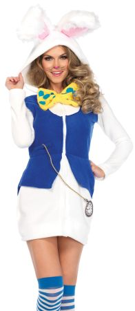 Women's Cozy White Rabbit Costume