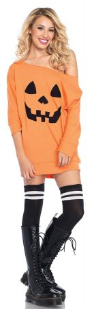 Women's Pumpkin Jersey Dress