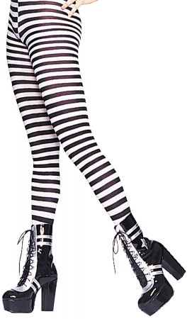 Plus Size Nylon Striped Tights