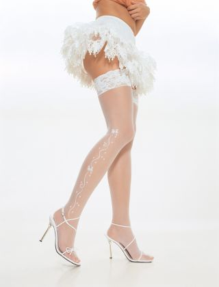 Sheer Wedding Bell Stockings
