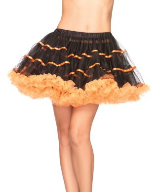Layered Striped Tulle Petticoat