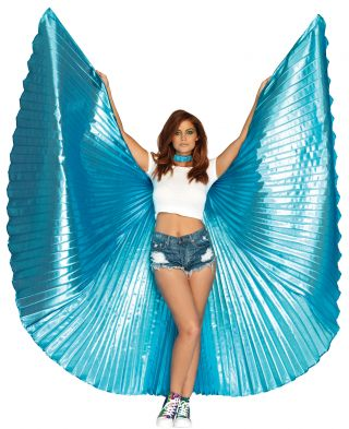 360 Degree Pleated Metallic Wings