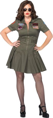 Women's Plus Size Top Gun Flight Dress