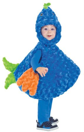 Big Mouth Blue & Green Fish Costume