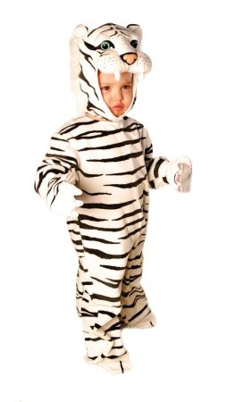 Plush White Tiger Costume