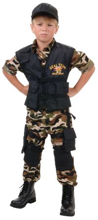 Boy's Deluxe Seal Team Costume