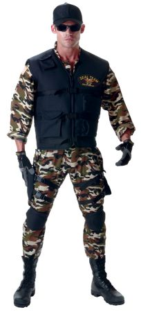 Men's Deluxe Seal Team Costume