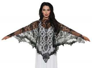 Women's Vampire Lace Poncho