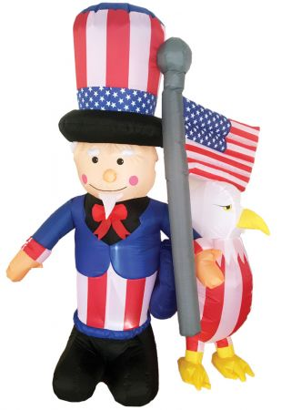 6' Inflatable Uncle Sam with Eagle