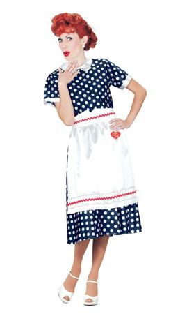 Women's Plus Size I Love Lucy Polka Dot Dress